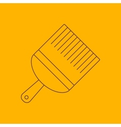 Paint brush line icon vector