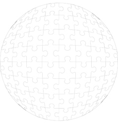 3d puzzle ball in color 23 vector image