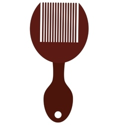 Hair comb with handle vector