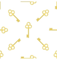 Seamless gold key pattern vector