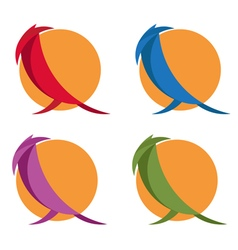 Simple flat design of birds vector