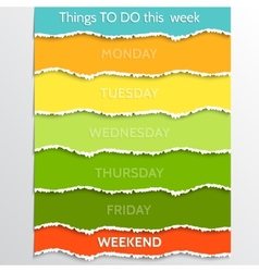 Abstract multicolor todo resolution list vector