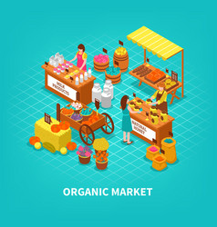 Agriculture market isometric composition vector