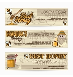 banners flyers for advertising sweet and vector image