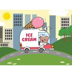 Cartoon ice cream truck vector