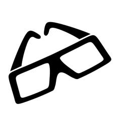 cinema 3d glasses vector image vector image