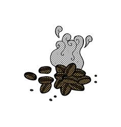 comic cartoon coffee beans vector image