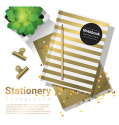 Creative scene with stationery background vector