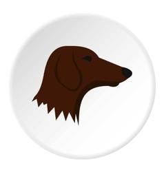Dachshund dog icon flat style vector image