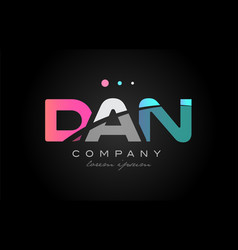 dan d a n three letter logo icon design vector image vector image