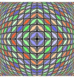 Design warped diamond geometric diagonal pattern vector