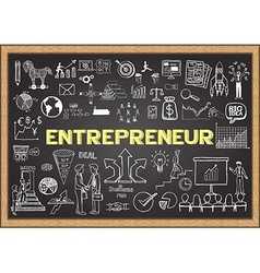 Entrepreneur on chalkboard vector