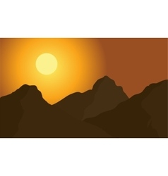 Hight mountain silhouette vector