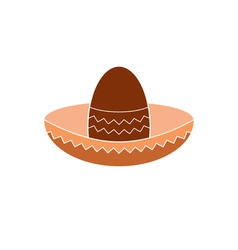 Icon mexican hat vector