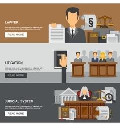 Law banner set vector