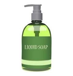 Liquid soap vector image