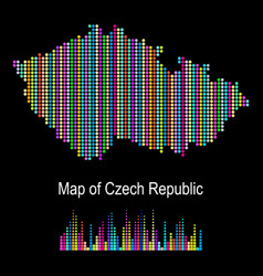map of czech republic vector image