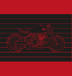 Motorcycle poster vector