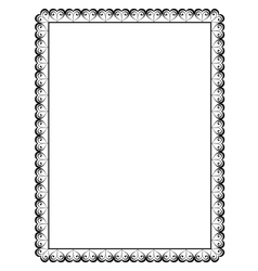 ornamental frame with heart vector image vector image