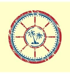Palms symbol grunge vector