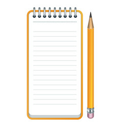 Pencil and notepad icon vector