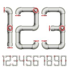plumbing figures vector image vector image