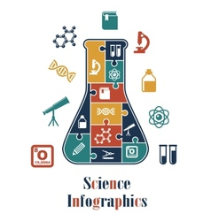 Science infographics vector
