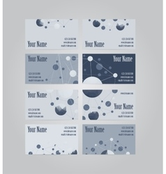 Set of eight visit cards vector image