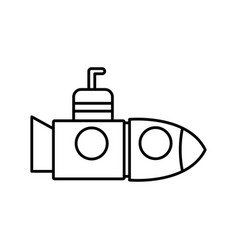 submarine with periscope underwater boat vector image vector image