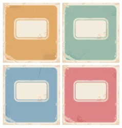 Vintage notebook covers vector image