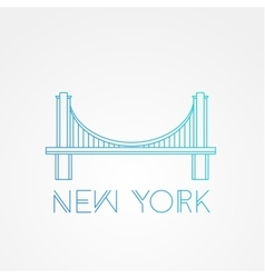 World famous Brooklyn Bridge vector image