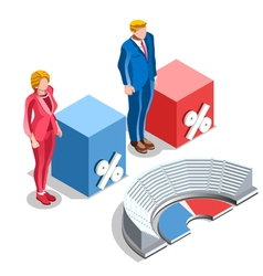 Election infographic congress us isometric people vector