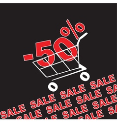 Big sale 50 percentage discount vector