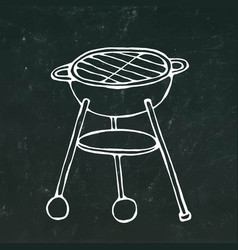 Bbq grill summer barbecue equipment isolated on vector