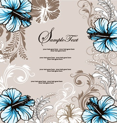 Wedding card with floral background vector