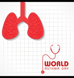 Creative world asthma day greeting vector