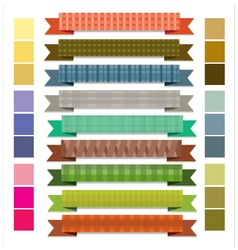 Ribbon stripes retro vector