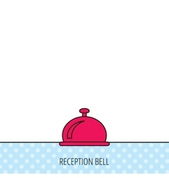 Reception bell icon hotel service sign vector
