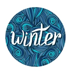 Winter hand written calligraphy word winter card vector