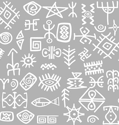 Ancient symbols set seamless vector