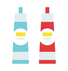 Glue tube cartoon flat vector
