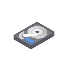 Hdd icon isometric 3d style vector