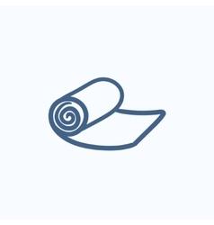 Camping carpet sketch icon vector