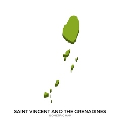 Isometric map of saint vincent and the grenadines vector