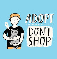 adopt do not shop vector image vector image