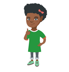 african-american little girl giving thumb up vector image vector image