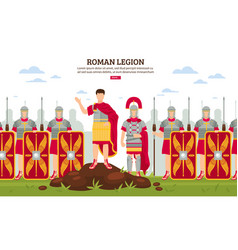 ancient rome legion banner vector image