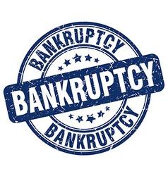 Bankruptcy blue grunge round vintage rubber stamp vector