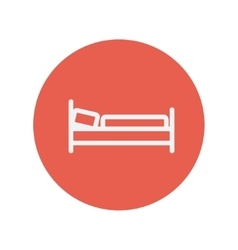 Bed thin line icon vector