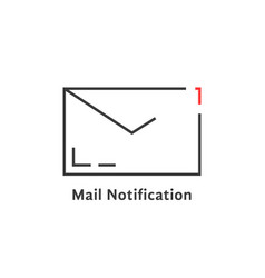 black mail notification icon vector image vector image